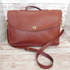 Coach vintage glove leather turnlock briefcase